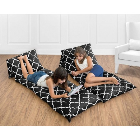 Trellis Red & Black Pillow Case Lounger