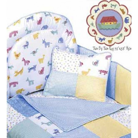 Two by Two 4 Piece Standard Crib Bedding Set by California Kids