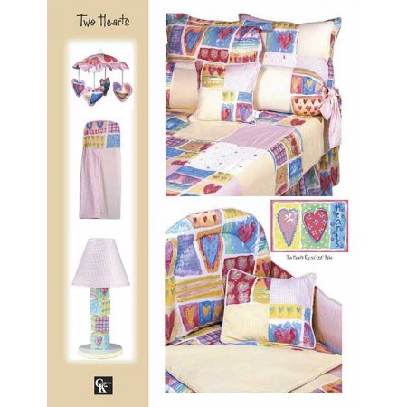 Two Hearts Rod Pocket Drapes