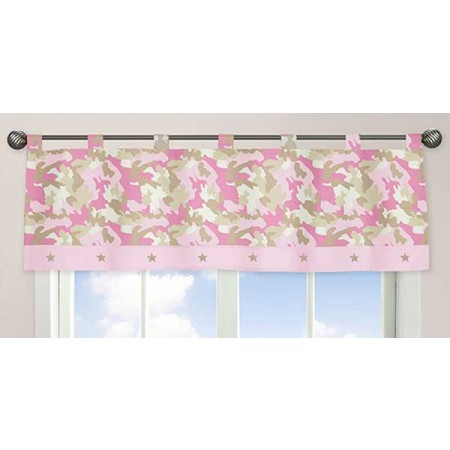 Pink Camouflage Valance