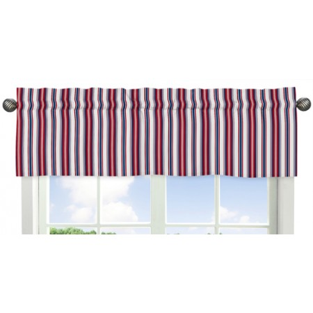 Nautical Nights Valance - Striped