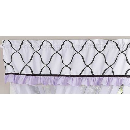 Princess Black, White and Purple Valance