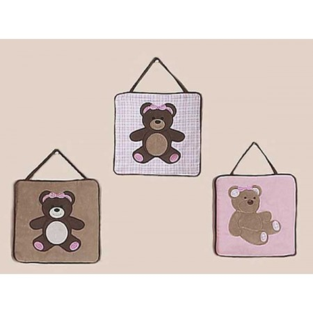 Teddy Bear Pink Wall Hanging