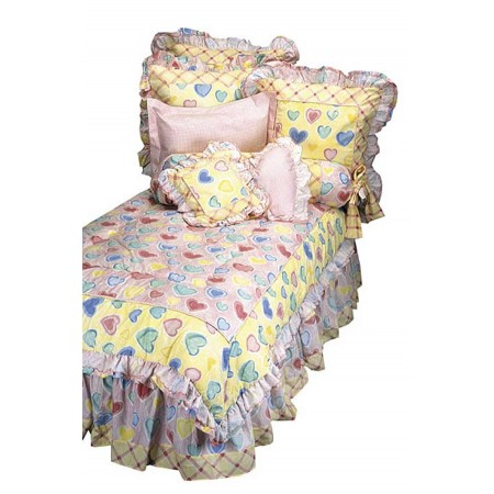 Watercolor Hearts Bunkbed Comforter by California Kids