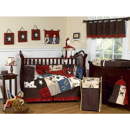 Wild West Cowboy Western Crib Bedding Set by Sweet Jojo Designs - 9 piece