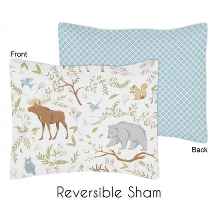 Woodland Toile Reversible Pillow Sham
