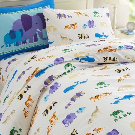 Olive Kids Endangered Animals Twin Duvet Cover