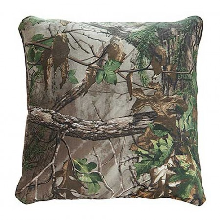Realtree Xtra Green Camouflage Themed 18 X 18 Square Pillow