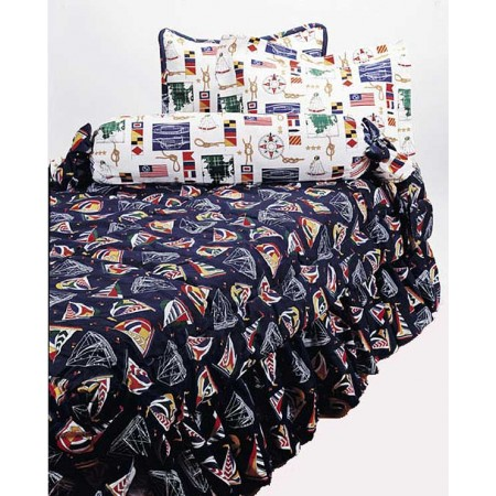 Yacht Club Extra Long Twin Size Hugger Style Comforter by California Kids