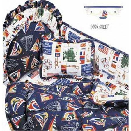 Yacht Club 4 Piece Standard Crib Bedding Set by California Kids