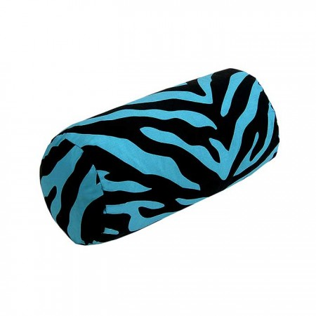Blue Zebra Print Neckroll Pillow