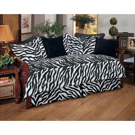 black u0026 white zebra daybed set