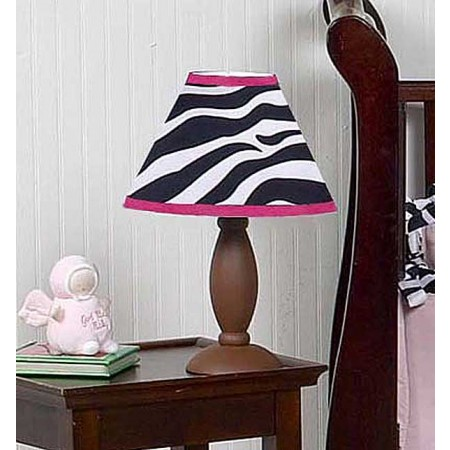 Hot Pink Zebra Lamp Shade