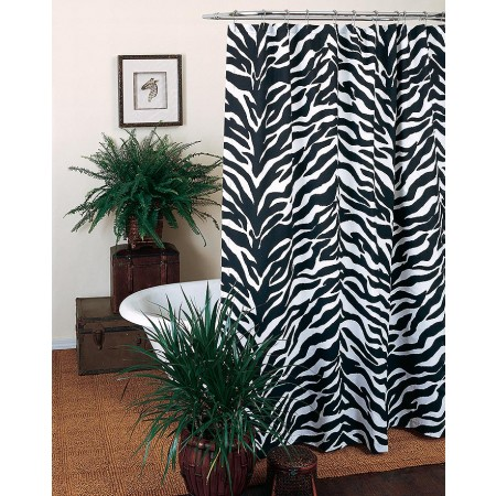 Kimlor Black & White Zebra Shower Curtain