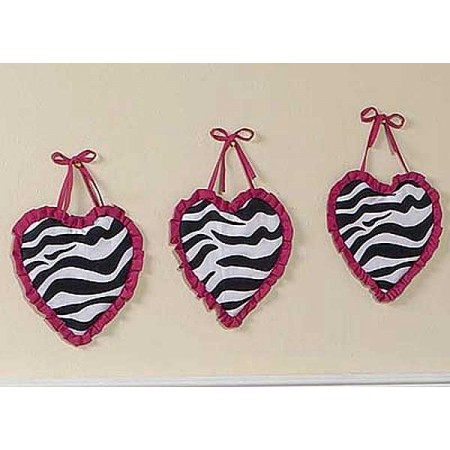 Hot Pink Zebra Wall Hanging