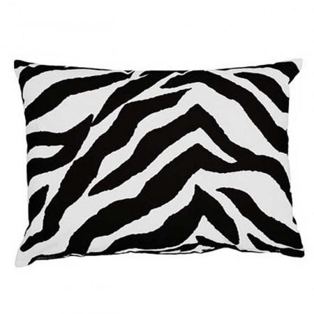 Black & White Zebra Oblong Accent Pillow