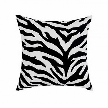 Black & White Zebra 18 X 18 Square Pillow
