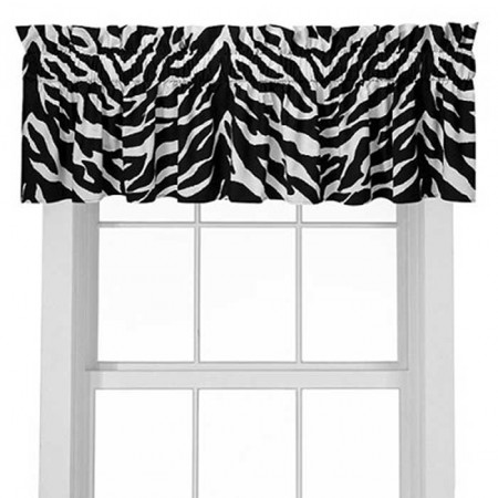 Black & White Zebra Valance