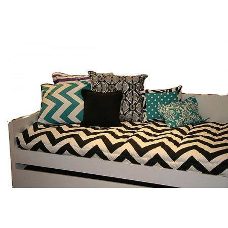Zippy Turquoise Decorative Pillow w/Black Cord Edge (22 inch) by California Kids