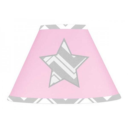 Zig Zag Pink & Gray Chevron Print Lamp Shade