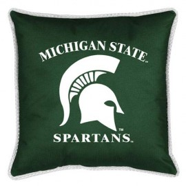 "Michigan State Spartans Toss Pillow - 18"" X 18"" Sideline Toss Pillow"
