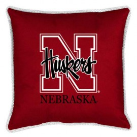 "Nebraska Cornhuskers Toss Pillow - 18"" X 18"" Sideline Toss Pillow"