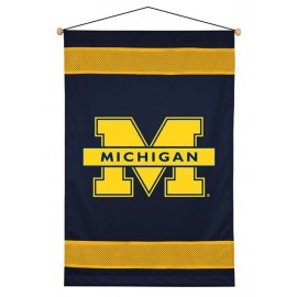 Michigan Wolverines Sideline Wall Hanging - 28 X 45