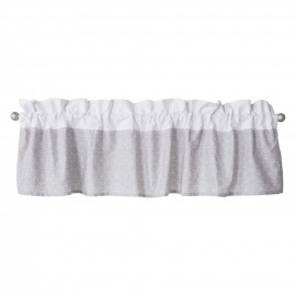 Gray and White Circles Window Valance