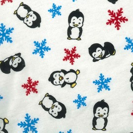 Crib Sheet - Penguin Print Flannel