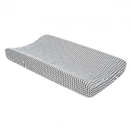 Changing Pad Cover - Gray And White Chevron