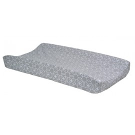 Changing Pad Cover - Gray And White Circle