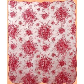French Country Red Throw Size Quilt