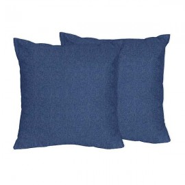 Denim Accent Pillows - Set of 2