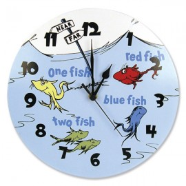Dr Seuss One Fish, Two Fish Wall Clock