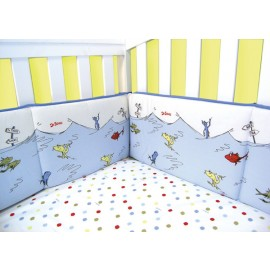 Dr Seuss One Fish, Two Fish - Bumper Set - 4 Piece