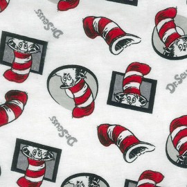Dr Seuss Cat In The Hat Flannel Crib Sheet
