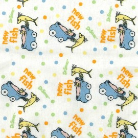 Dr. Seuss One Fish, Two Fish Deluxe Flannel Fitted Crib Sheet