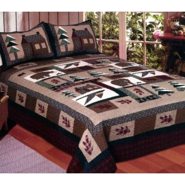 Winter Cabin Pillow Shams (Sold in Pairs)