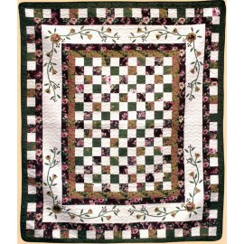Tennessee Rose Throw Size Quilt