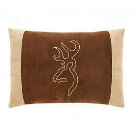 Browning Buckmark Suede Accent Pillow - Oblong Brown