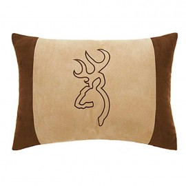 Browning Buckmark Suede Accent Pillow - Oblong Tan