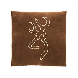 Browning Buckmark Suede Square Pillow - Brown