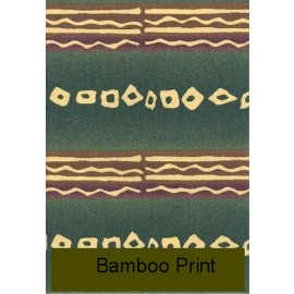 Bamboo Print 18 X 18 Square Pillow by Mayfield