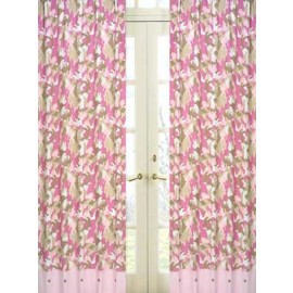 Pink Camouflage Window Panels