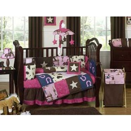 Cowgirl Western Crib Bedding Set by Sweet Jojo Designs - 9 piece