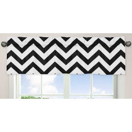 Black & White Chevron Print Valance