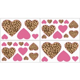 Cheetah Pink Wall Decals