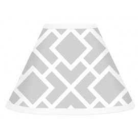 Diamond Gray & White Lamp Shade