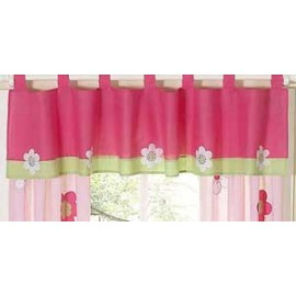 Flower Pink And Green Valance