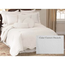 French Tile Full/Queen Quilt White